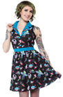 SOURPUSS SPACE BABES JUNE DRESS Rocket Ship Planets Punk Rock