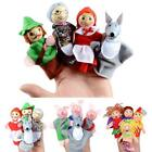 4Pcs Finger Puppets Cloth Plush Doll Baby Educational Hand Cartoon Animal Toys S