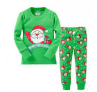 Christmas Kid Infant Long Sleeve+Pants Set Clothes Xmas Pajamas Homewear Costume