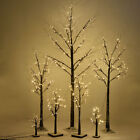 Christmas Xmas Silver Birch Snow Tree LED Light Warm Decorative Festival Party