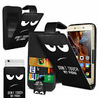 For Yezz Billy 4.7 - Printed Clip On PU Leather Flip Case Cover