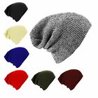 Unisex Knitted Floppy Slouch Beanie Hat Chunky Outdoor Winter Cap