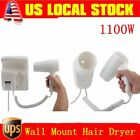 Bathroom Wall Mount Hair Dryer 1100 Watts Home Hotel Mounted  Blow Sunbeam US ZB