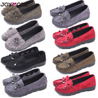 Women Work Leather Slip On Comfort Shoes Moccasin Oxfords Loafers Flat Shoes