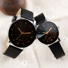 Fashion Watch Men Women's Leather Strap Line Analog Quartz Ladies Wrist Watches image
