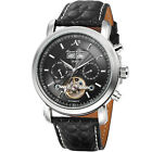 KS Men's Luxury Date Automatic Mechanical Leather Stainless Steel Wrist Watch
