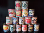 Vintage Replica Food Tin Cans great for cutlery holders, wedding flowers, props