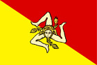 SICILY FLAG VINYL DECAL STICKER MULTIPLE SIZES TO CHOOSE FROM