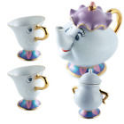 2017Disney Beauty and The Beast Mrs. Potts & Chip Tea Pot And Cup sugar set UK