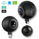 720&deg; 1080P HD VR Panoramic Camera Dual Fisheye Lens Plug and Play For Android <br/> 2048x1024 Recording, Real-Time HD, 1 Year Warranty! US!