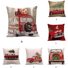 christmas pillow cases - Happy Christmas Pillow Cases Linen Sofa Cushion Cover Home Decoration Throw Case