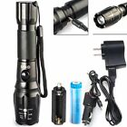 Rechargeable Torch LED Glashlight 5 Mode Aluminum Alloy Waterproof Design NEW