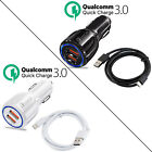 Qualcomm QC3.0 Certified Quick Charge Dual 2 USB Port QC3.0 Fast Car Charger 36W