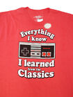 Nintendo T-shirt EVERYTHING I KNOW I LEARNED FROM THE CLASSICS -TALL SIZES NEW! image
