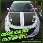 Hood Blackout Racing Stripes Blackout Graphics - Fits 2013-2016 Dodge Dart $79.99 USD on eBay
