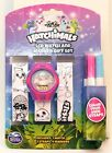 LCD Watch & Marker Gift Set Color Your Own Watch 3 Straps 4 Markers -5 Varieties