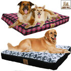 Large Soft PP Cotton Dog Bed Waterproof Indoor Outdoor Pet Bed w Removable Cover