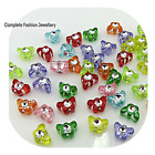 NEW 80PCS 7MM DOUBLE SIDED SINGLE DRILL TRANSLUCENT BUTTERFLY BEADS - UK SELLER
