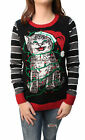 Ugly Christmas Sweater Women's Tangled Kitten in Lights LED Light Up Sweatshirt