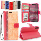 iphone 5 wallet case leather - For Apple iPhone X 5S 5SE 6 6S 7 8 Plus Bling Glitter Leather Wallet Flip Case