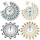 Vintage Style Peacock Antique Wall Clock Home Kitchen Office Decor DIY Art Gift