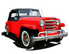 Willys Overland Jeepster canvas art print by Richard Browne - Jeep