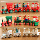 4pcs Xmas Wooden Christmas Train Santa Claus Festival Ornament Decor Gifts HOT