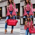 Women Long Sleeve Shirt Loose Casual Poullover Stripe Tops Trumpet Sleeve Blouse