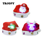 LED Xmas Hat Caps Light Action Toy Figures Christmas Decoration Christmas Gift