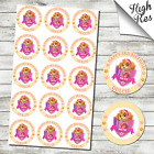 """PAW PATROL SKYE 15X 2"""" ROUND EDIBLE CUPCAKE TOPPERS - CAN BE PERSONALISED"""
