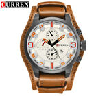 Curren 8225 Army Military Quartz Mens Watches Top Brand Luxury Leather Men Watch