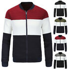 Mens Fashion Slim Fit Contrast Color Baseball Coat Jacket Sweaters Sports Tops