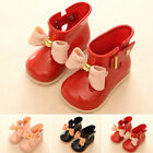 Cute Toddler Rain Boots For GIRLS Casual Waterproof Rainboots School Jelly Shoes