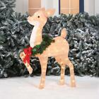 Outdoor Lighted Reindeer Chritmas Decorations Fawn Deer 36 INCH Sculture Decor