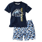 Boys Girls Kid Pajamas T-Shirt Tops+Pants Toddler Sleepwear Clothes Outfits Set