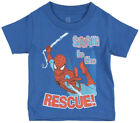 Toddler Spiderman Rescue T-Shirt Blue Kids Marvel Comics
