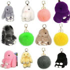 Bashful Bunny Doll Rabbit Fur Pom Key Chain Car Bag Charm Pendant