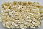 15mm 24L Light Cream 4 Hole Pearlescent Baby Doll Sewing Scrapbook Button (K127)