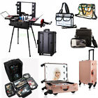 Pro Rolling Makeup Trolley Train Case Box Organizer Salon Co