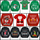 Christmas Funny Ugly Sweater T-Shirt / Long Sleeve Kids Youth XS - XL Red Green