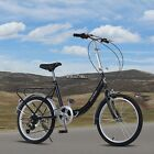 US SELLER! 6 Speed Folding Bike Foldable Bicycle School Unisex Cycling Outdoor