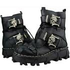 Genuine Leather Gothic Steampunk Martin Boots