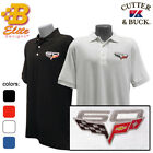 C6 Corvette 60th Anniversary Embroidered Men's Cutter & Buck Ace Polo Shirt P198