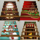 Christmas DIY Decorative Stair Riser Decal PVC Stairway Stickers Family  Decor E