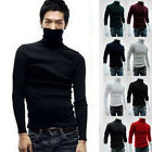 US Stock Men Slim Warm Cotton High Neck Pullover Jumper Sweater Top Turtleneck