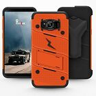 SSamsung Galaxy S8 Plus Case Cover Protector Kickstand Military Holster Orange