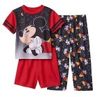Disney Boys Pajama Set Mickey Mouse 3 piece Toddler size 2T 4T NEW