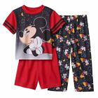 Disney Boys Pajama Set Mickey Mouse 3 piece Toddler size 2T NEW
