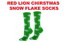 RED LION SNOWFLAKE CHRISTMAS WINTER CREW SOCKS BASKETBALL VOLLEYBALL LACROSSE