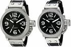 TW Steel Men's Canteen Automatic Black Dial Black Leather Watch - Choice of Size image
